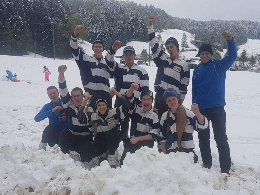 U23 siegen im Schnee